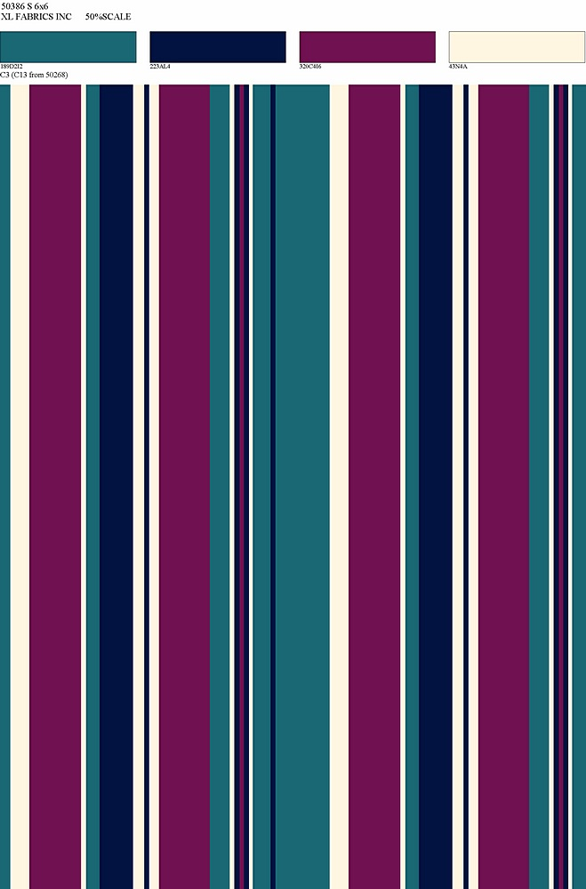 D2052-ST50386 / C3 BERRY/TEAL / 95%POLY 5%SPAN DTY BRUSHED PRINT