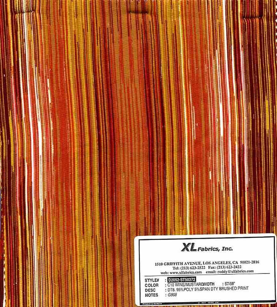 D2052-ST50372 / C10 WINE/MUSTARD