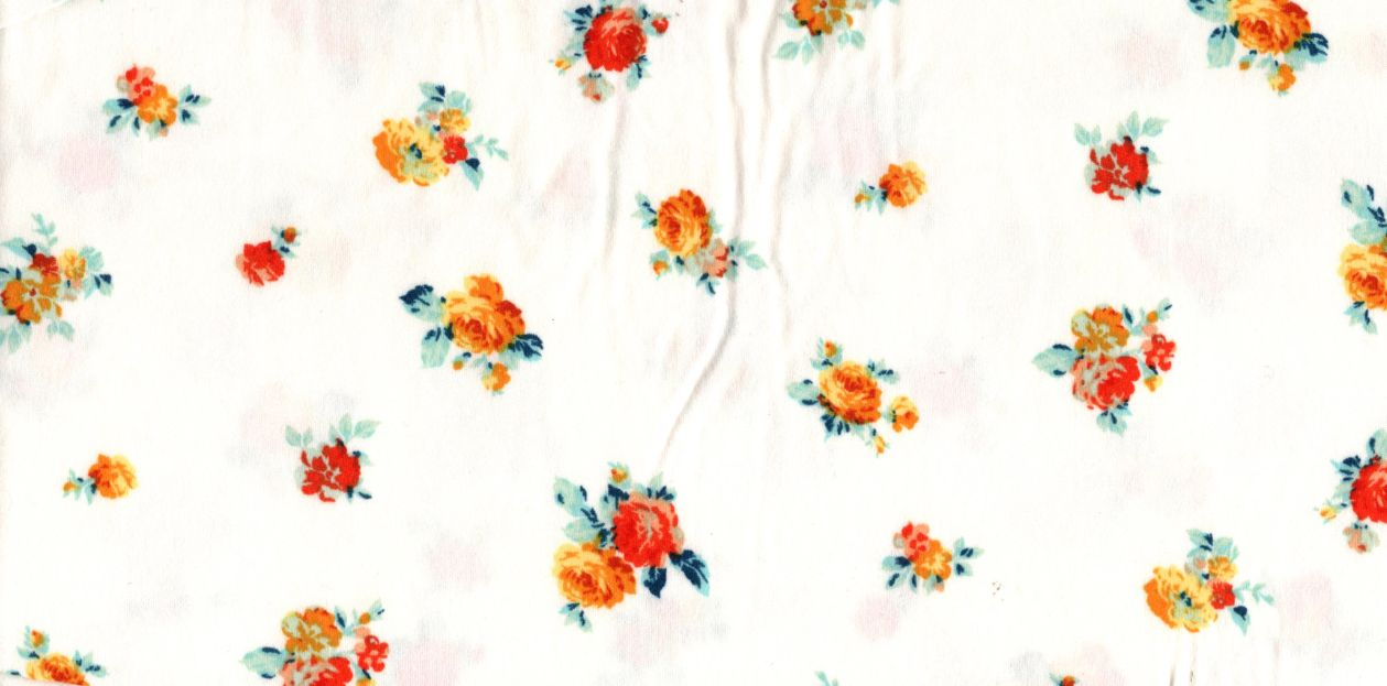 D2052-FL3576 / C38 IVORY/YLLOW / 95%POLY 5%SPAN DTY BRUSHED FLORAL PRINT