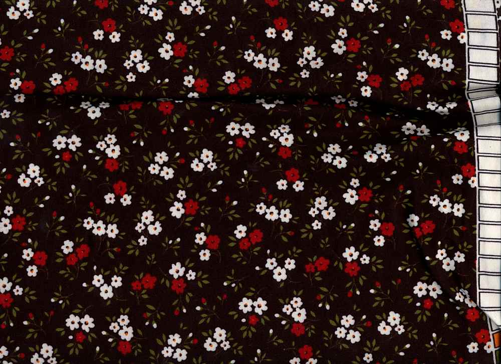 D2052-FL51476 / C7 BLACK/RED / DT8. 95%POLY 5%SPAN DTY BRUSHED PRINT